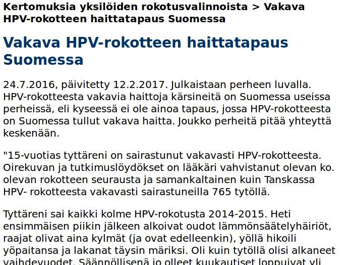 hpv rokotus tünet)