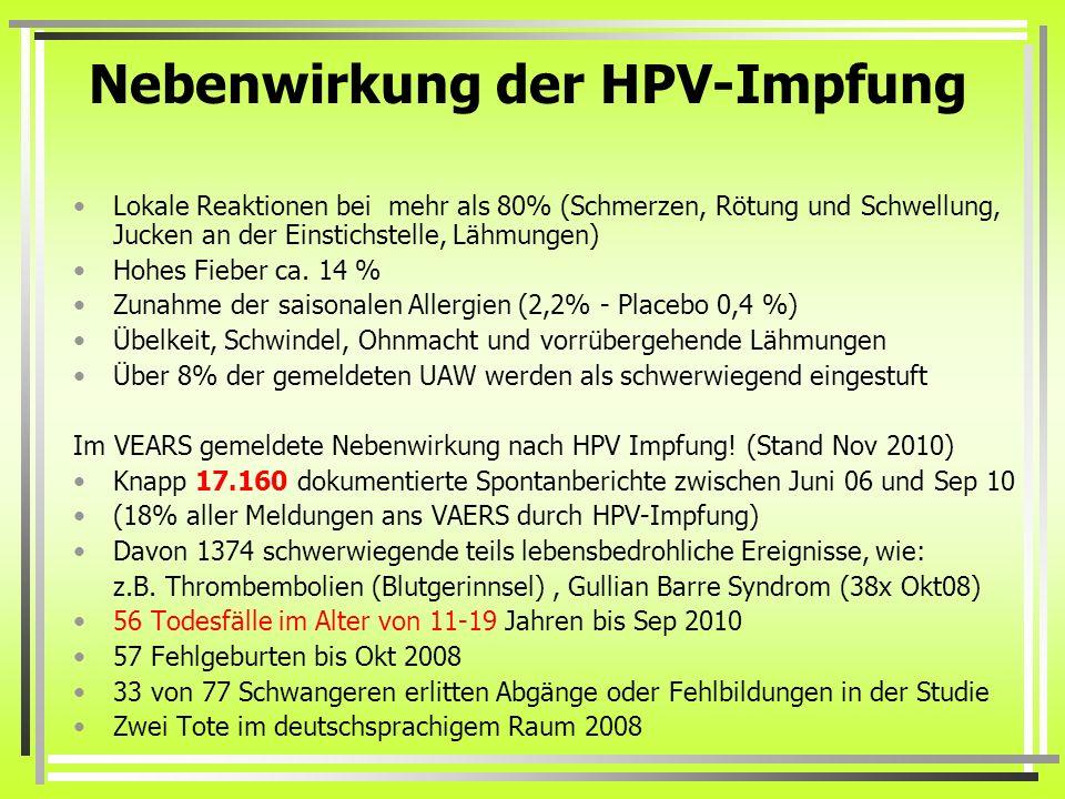 gardasil impfung nebenwirkungen)