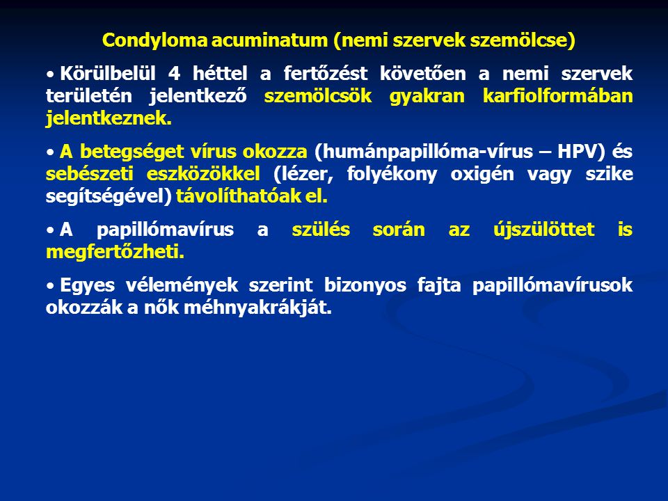 vírusellenes gyógyszerek papillómákra)