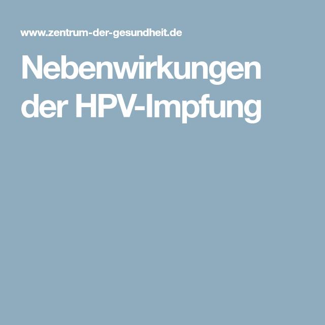 hpv impfung örvény)