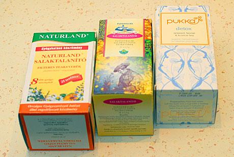 méregtelenítő teák