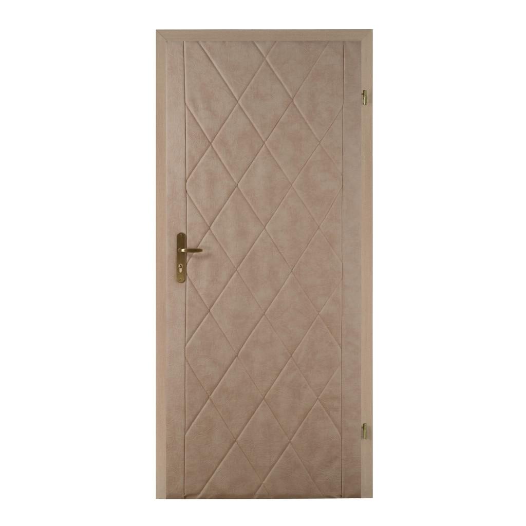 Standom T3, ökobőr kárpit ajtóra , kis gyémánt mintázattal 5x5cm, 105 x 210 cm, Csokoládé