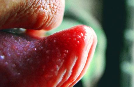 a szájban a szemölcsök nyelvén