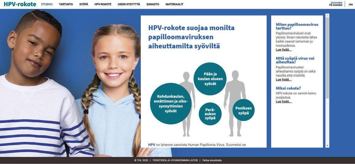 hpv rokotus tünet